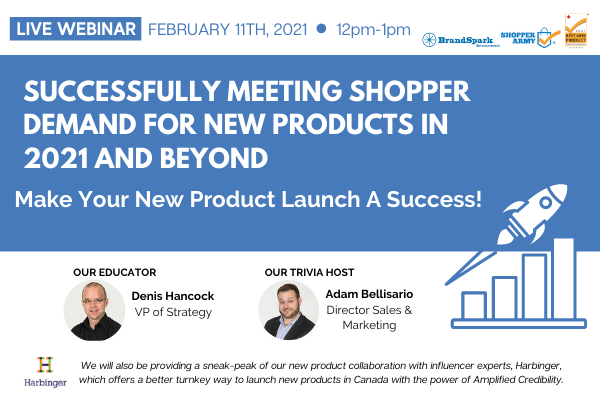 Register for the Webinar on Successfully Meeting Shopper Demand for New Products in 2021 and Beyond